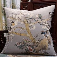 "Luxury Purple Bird Printing Pillow 20""X20"""