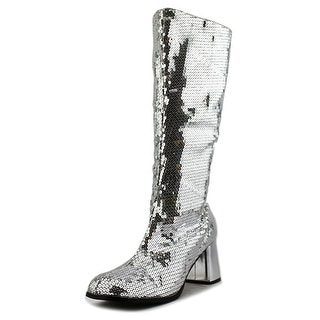 Bordello Spectacul Women Square Toe Synthetic Silver Knee High Boot