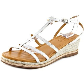 Corso Como Codi Women Open Toe Leather White Wedge Sandal