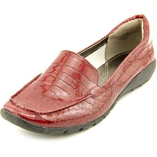 Easy Spirit Abide 9 Women Square Toe Patent Leather Red Loafer