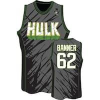 The Incredible Hulk Smash Men's Charcoal Jersey