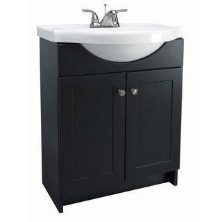 "Design House 541680 24"" Freestanding Vanity Cabinet with Marble Vanity Top"