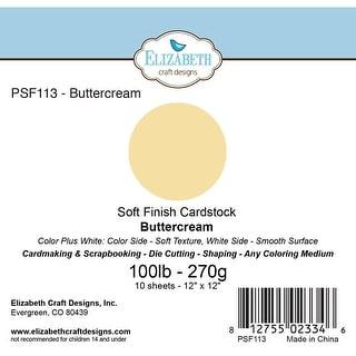 """Soft Finish Cardstock 12""""X12"""" 10/Pkg-Buttercream"""