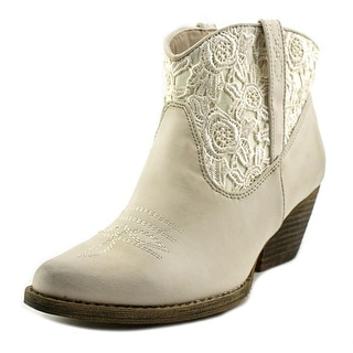 Very Volatile Libbylou Women Pointed Toe Synthetic Ivory Western Boot