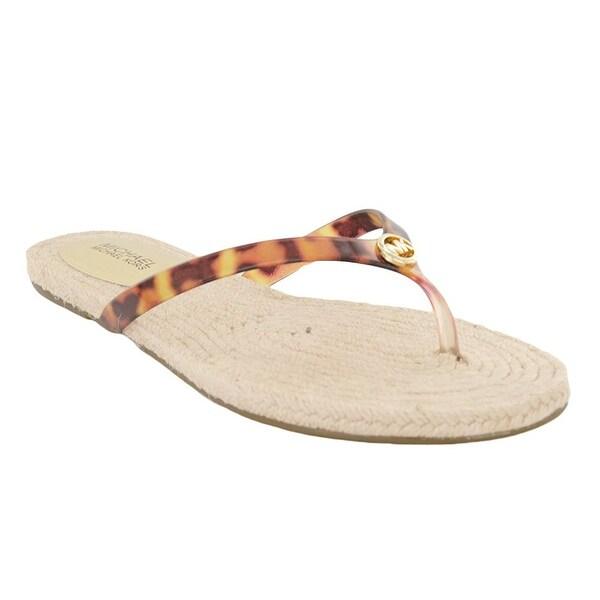 MICHAEL Michael Kors Womens hazel Split Toe Casual Slide Sandals - 5