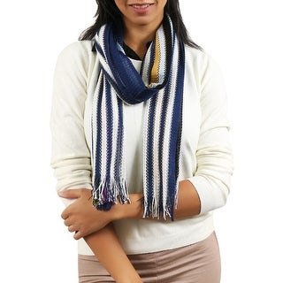 Link to Missoni  Navy/Mustard Striped Scarf - 14-72 Similar Items in Scarves & Wraps