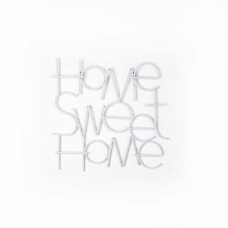"Graham and Brown 41-222 17 Inch x 18 Inch ""Sweet Home"" Steel Wire Wall Art"