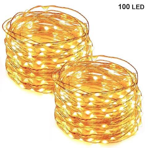 33FT 100 LED Copper Wire String Lights Warm White - Medium