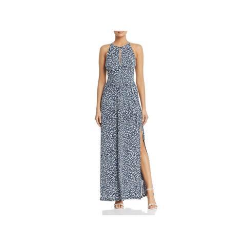 9ec0b89c204 MICHAEL Michael Kors Womens Maxi Dress Keyhole Halter
