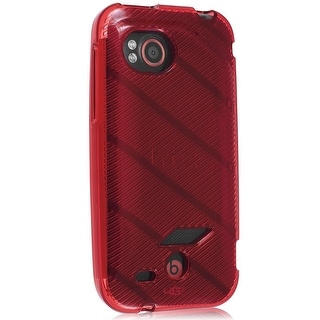 Verizon High Gloss Silicone TPU Gel Skin Case For HTC Rezound 6425 (Red Stripe P