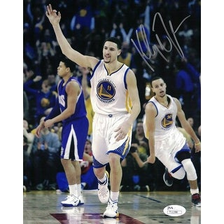 Klay Thompson Autographed Golden State Warriors 8x10 Photo JSA