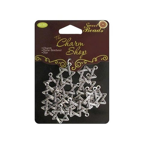 Sweet Beads Charm Shop Mtl Star Silver 22pc