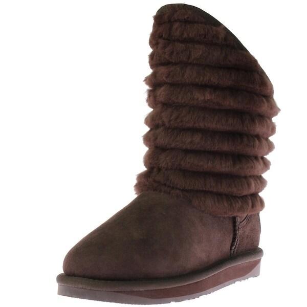 Australia Luxe Womens Shogun Mid-Calf Boots Sheepskin Lined