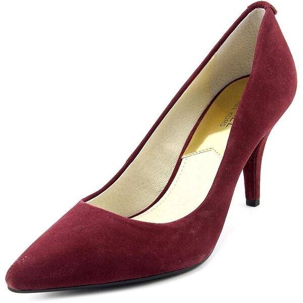 Michael Michael Kors Flex Mid Pump Women Pointed Toe Suede Burgundy Heels
