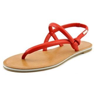 Calvin Klein Alisia Open-Toe Leather Slingback Sandal