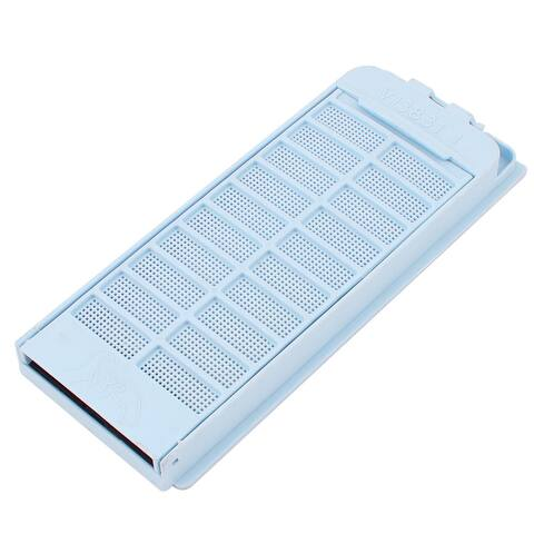 9.5 x 4.5cm Steel Wire Mesh Plastic Lint Filter Net for Haier Washing Machine