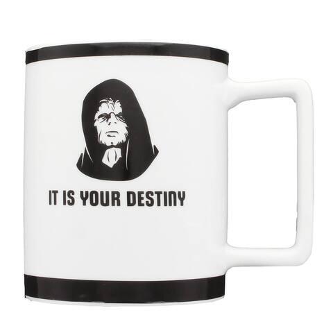"""Star Wars Emperor Palpatine """"It's Your Destiny"""" 10oz. Mug - White"""