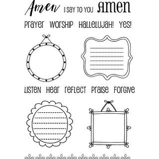 "Srm Bible Journaling Clear Stamps 4""X6""-Amen Frames"