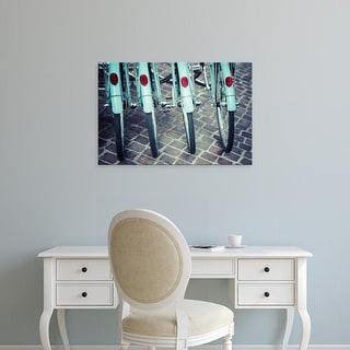Easy Art Prints Jessica Reiss's 'Bicycle Line Up 1' Premium Canvas Art
