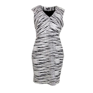 Vince Camuto Womens Textured Sleeveless Wear to Work Dress - 8