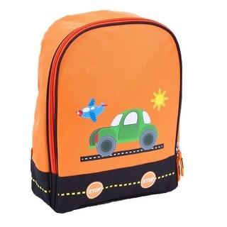 Aquarella Kids Boys Orange Transportation Back To School Backpack - One size