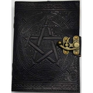 AzureGreen BBBL641 Pentagram Leather with Latch, Black - 5 x 7 in.