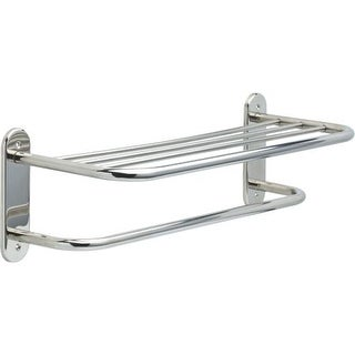 """Delta 43624 24"""" Towel Shelf with Towel Bar and Exposed Mounting"""