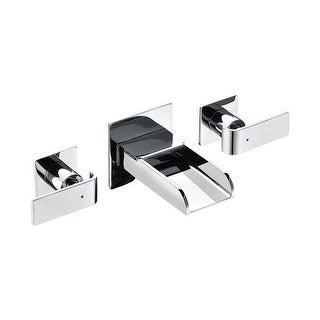 Widespread Wall Mounted Modern Waterfall Bathroom Faucet,