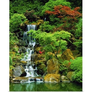 """Japanese Garden in Portland, Oregon"" Poster Print"