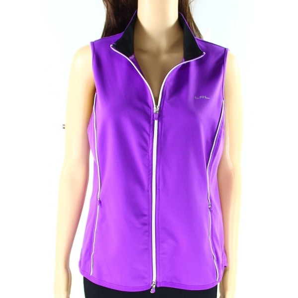 Lauren Active Ralph Lauren NEW Purple Small S Vest Full-Zip Jacket