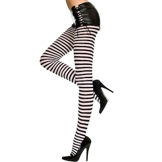 cc3021fe836 Shop Plus Size Opaque Striped Tights