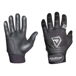 Akadema Black Professional Batting Gloves Large