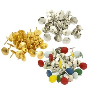 Unique Bargains 90 Pcs Home/Office Metal Board Map Push Pins Thumbtacks w Steel Point