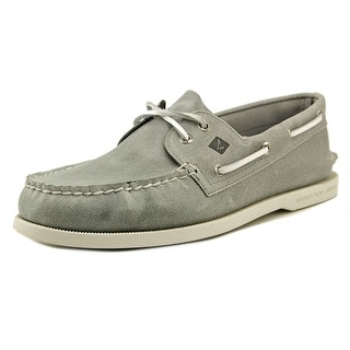 Sperry Top Sider A/O 2 Eye Moc Toe Leather Boat Shoe