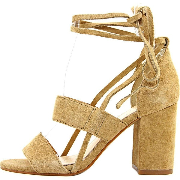 Jessica Simpson Womens Harphor Leather Open Toe Casual Strappy Sandals