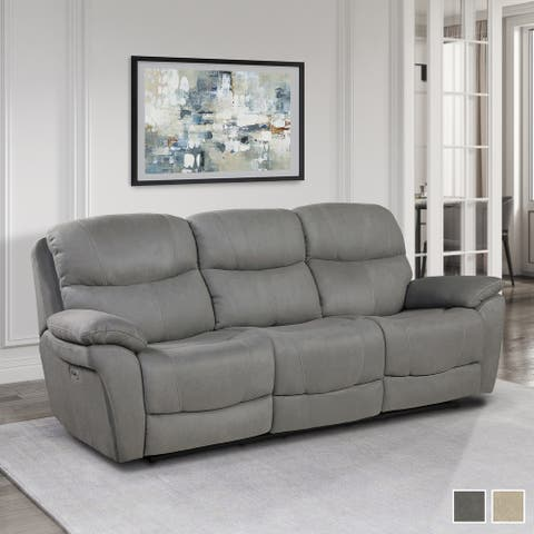 Mono Power Double Reclining Sofa with Power Headrests