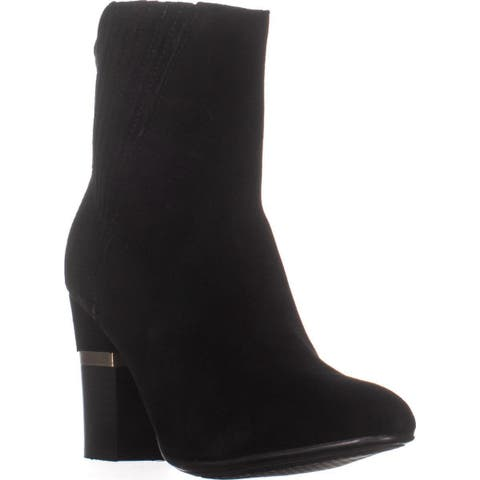 Lucca Lane Jadia Ankle Boots, Black Suede