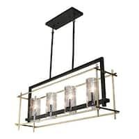 "Artcraft Lighting AC10945 Riverview 4 Light 8-1/2"" Wide Linear Chandelier"