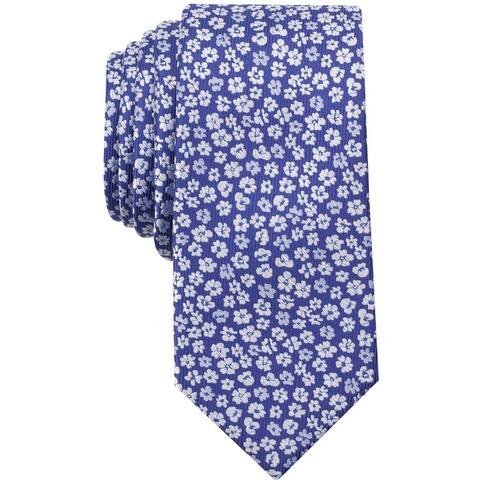 Bar Iii Mens Elizabeth Floral Self-Tied Necktie - One Size