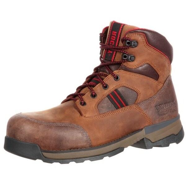 Rocky Work Boots Mens Mobilwelt WP Abrasion Resistant Brown