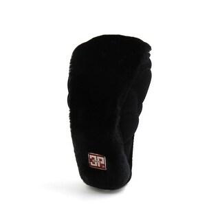 Black Nylon Flannel Zipper Closure Protective Cover for Car Shift Lever Knob