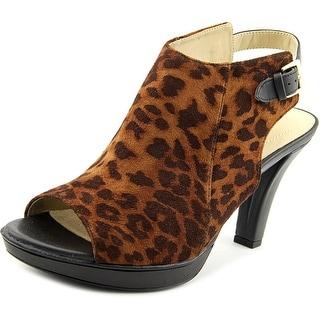 Naturalizer Distant Women  Open Toe Canvas Brown Sandals