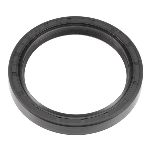 Oil Seal, TC 75mm x 95mm x 12mm, Nitrile Rubber Cover Double Lip - 75mmx95mmx12mm