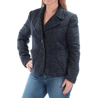 Womens Navy Wear To Work Blazer Jacket Size 14