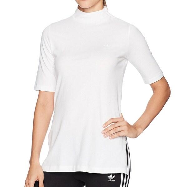 208e9054 Shop Adidas Bright White Womens Size Medium M Mock-Neck Blouse Shirt ...