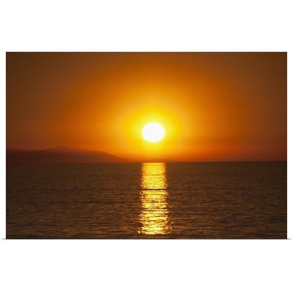 """Sunset over Santa Catalina Island"" Poster Print"