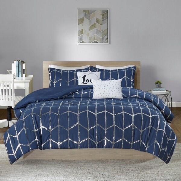 Intelligent Design Khloe 5-piece Metallic Printed Comforter Set. Opens flyout.