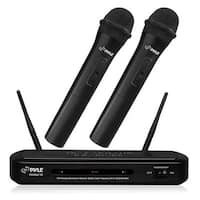 Dual Frequency FM Wireless Microphone Receiver System with 2-Handhel