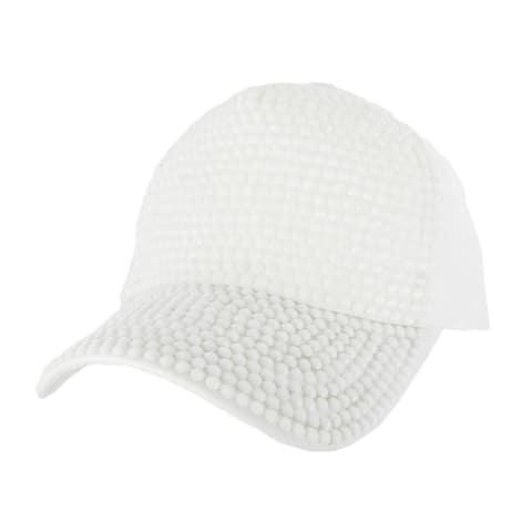 Top Headwear Shiny Stone Sudded Denim Baseball Cap