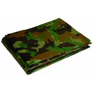 Foremost 41012 Dry Top Camouflage Tarp, Polyethylene, 7 Mil Thick